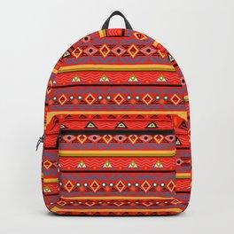 Orange ornament Backpack