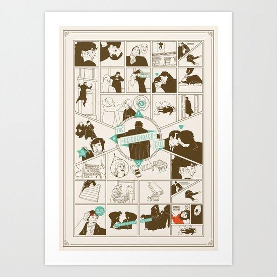 The Reichenbach Fall Guide Art Print