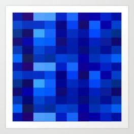 Blue Mosaic Art Print