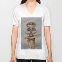 leonardo V-neck T-shirts featuring Leonardo by Ed Schaap