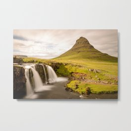 KIRKJUFELL MOUNTAIN SUMMER - ICELAND - LANDSCAPE PHOTOGRAPHY PRINT Metal Print