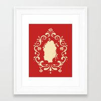 marie antoinette Framed Art Prints featuring Marie Antoinette by Enkel Dika
