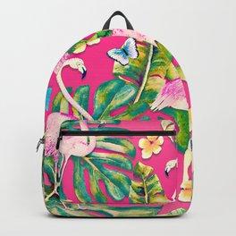 Pink Flamingo Paradise Backpack