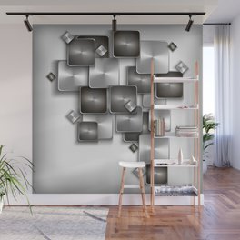 Abstract buttons background Wall Mural