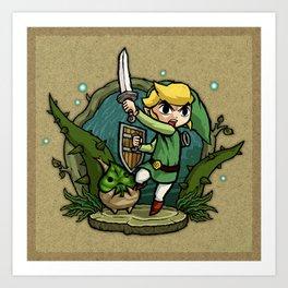 Legend of Zelda Wind Waker Forbidden Woods Temple T-Shirt Art Print