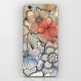 flower pattern crush iPhone Skin