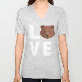 Love Grizzly Bear Unisex V-Neck
