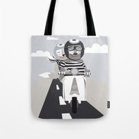 vespa Tote Bags featuring VESPA by tonadisseny