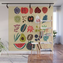 Fruit and Spice Rack Wall Mural