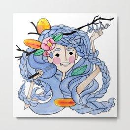 Girl in distress Metal Print