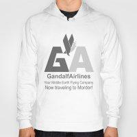 gandalf Hoodies featuring Gandalf Airlines by Faniseto