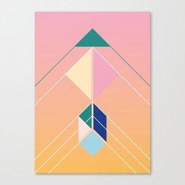 Tangram Arrow Three Canvas Print