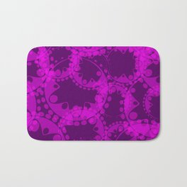 Spring pastel gentle purple circles and ellipses depicting abstract flowers. Bath Mat