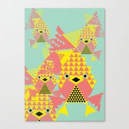 School of Modular Gold Fish. Canvas Print