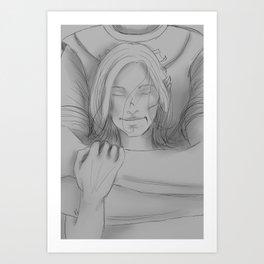 Commander's Embrace Art Print