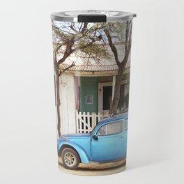 Old blue car | Lobitos Peru Travel Mug