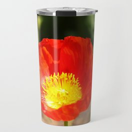 Red Poppy Flower Travel Mug