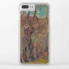 Canadian Landscape Oil Painting Franklin Carmichael Art Nouveau Post-Impressionism Silvery Tangle Clear iPhone Case