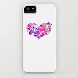 Dragonfly Heart- Pink and Blue iPhone Case
