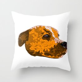 Max the Staffy2 Throw Pillow