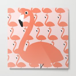 Flamingo Fever Metal Print