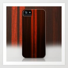 Wooden Striped Oak case Art Print