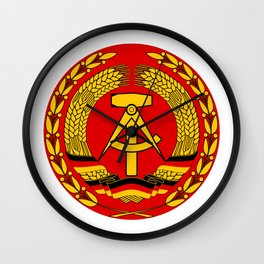 Insignia of East German Volksmarine, 1956-1990 Wall Clock