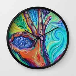 Elemental Feather Wall Clock