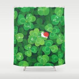 Happy lucky snail Shower Curtain