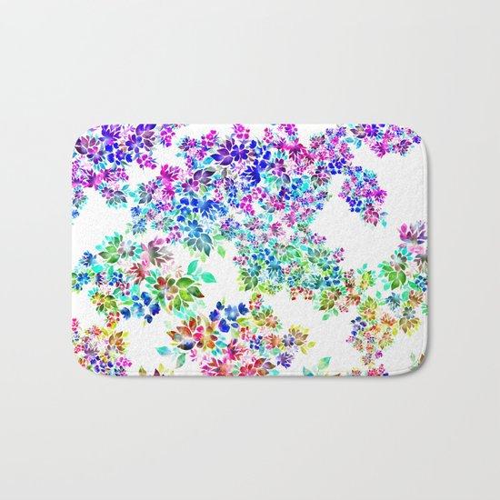 Watercolor Lei Bath Mat