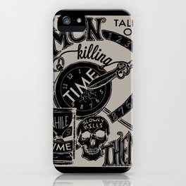 Killing Time iPhone Case
