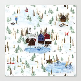 Nordic Winterscape Canvas Print