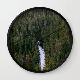 Waterfall in gifford-pinchot national forest, washington Wall Clock