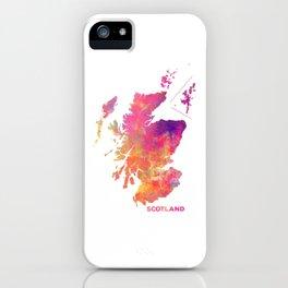 Scotland map #scotland #map iPhone Case