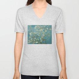 Almond Blossom - Vincent Van Gogh Unisex V-Neck
