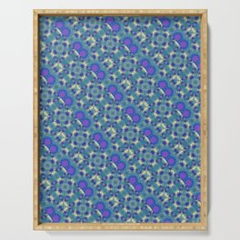 colorful modern pattern background Serving Tray
