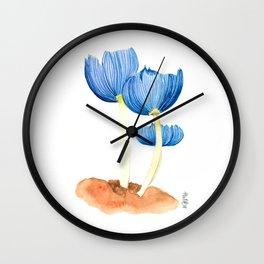 Blue fungi Wall Clock