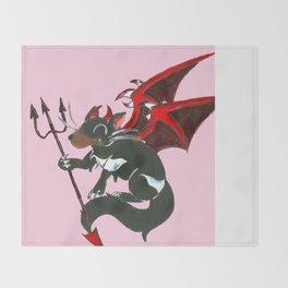 Little Devil Throw Blanket