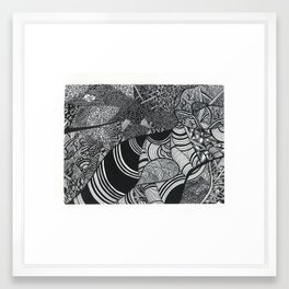 Laying Down Framed Art Print