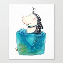 Shark Cube Canvas Print