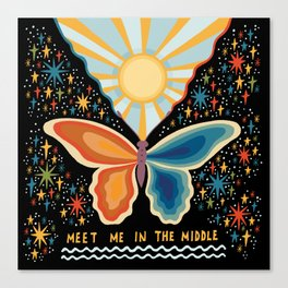 Meet me in the middle Canvas Print