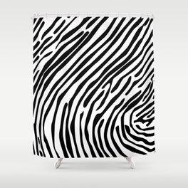 Skin of a zebra Shower Curtain