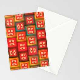 Colorful tiles Stationery Cards