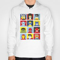 heroes Hoodies featuring Felt Heroes by Jacopo Rosati