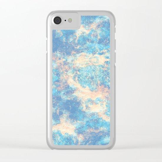 Blue Foam Clear iPhone Case