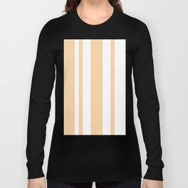 Mixed Vertical Stripes - White and Sunset Orange Long Sleeve T-shirt