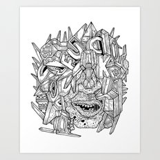 Geometric Mutations: FU*K Art Print