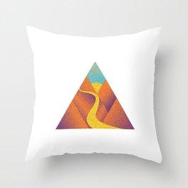 Triangle free way Throw Pillow