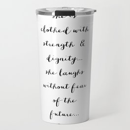 SHE IS - B & W Travel Mug