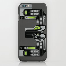 Seattle 3 - Black iPhone 6s Slim Case